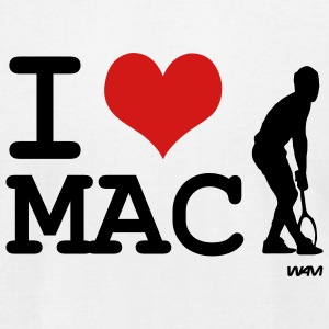 White I love mac by wam T-Shirts - Men's T-Shirt by American Apparel