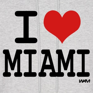 Ash  i love miami by wam Hoodies - Men's Hoodie