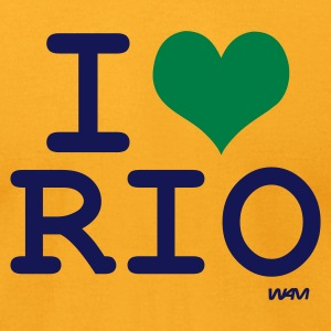 Gold i love rio by wam T-Shirts - Men's T-Shirt by American Apparel