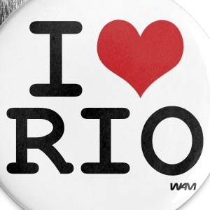White i love rio by wam Buttons - Large Buttons
