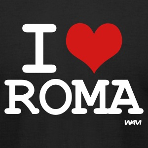 Black i love roma by wam T-Shirts - Men's T-Shirt by American Apparel