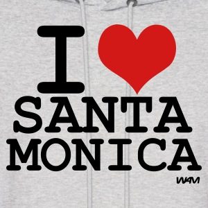 Ash  i love santa monica by wam Hoodies - Men's Hoodie