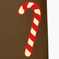 Brown Candy Cane - Christmas T-Shirts