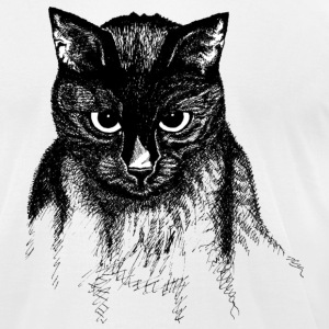 White Goblin the Cat T-Shirts - Men's T-Shirt by American Apparel