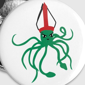 Squid Pope - vector - Large Buttons
