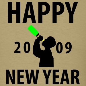 Khaki Happy New Year 2009 T-Shirts - Men's T-Shirt