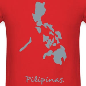 Red philippines map T-Shirts - Men's T-Shirt