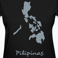 Black philippines map Women's T-shirts
