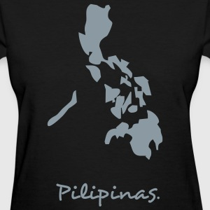 Black philippines map Women's T-shirts - Women's T-Shirt
