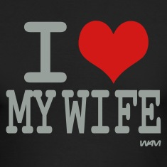 Black i love my wife by wam Long sleeve shirts
