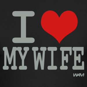 Black i love my wife by wam Long sleeve shirts - Men's Long Sleeve T-Shirt by Next Level