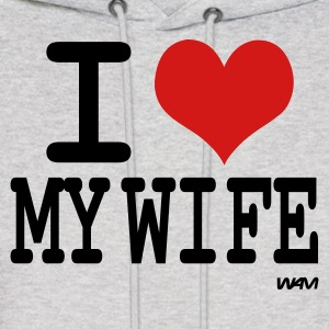 Ash  i love my wife by wam Hoodies - Men's Hoodie