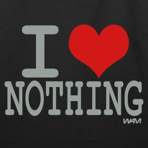 Black i love nothing by wam Bags  - Eco-Friendly Cotton Tote