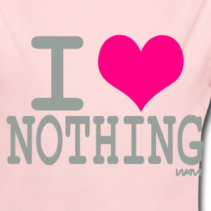 Light pink i love nothing by wam Baby Body - Long Sleeve Baby Bodysuit