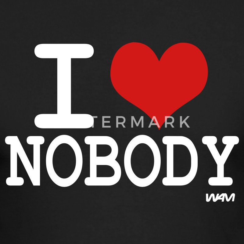 Black i love nobody by wam Long sleeve shirts - Men's Long Sleeve T-Shirt by Next Level
