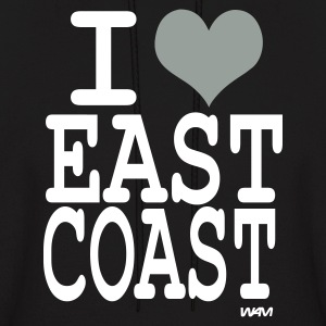 Black i love east coast by wam Hoodies - Men's Hoodie