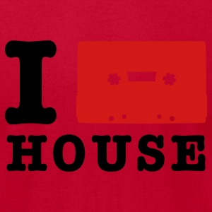 Lemon i love house music T-Shirts - Men's T-Shirt by American Apparel