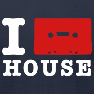 Navy i love house music T-Shirts - Men's T-Shirt by American Apparel