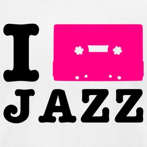 White i love jazz T-Shirts - Men's T-Shirt by American Apparel