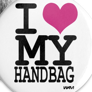 White i love my handbag by wam Buttons - Large Buttons