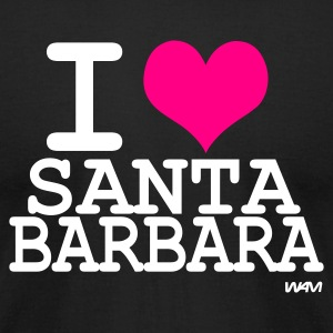 Black i love santa barbara by wam T-Shirts - Men's T-Shirt by American Apparel