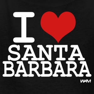Black i love santa barbara by wam Kids Shirts - Kids' T-Shirt