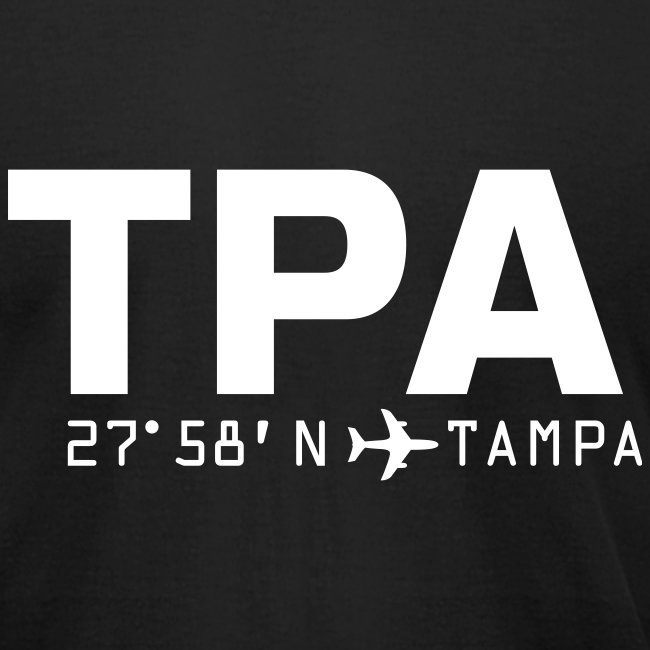 Tampa Airport Code Florida TPA Fitted T-shirt