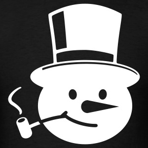 Black Frosty the Snowman T-Shirts - Men's T-Shirt