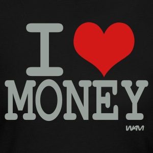 Black i love money by wam Long sleeve shirts - Women's Long Sleeve Jersey T-Shirt