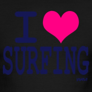 Sky/navy i love surfing by wam T-Shirts - Men's Ringer T-Shirt