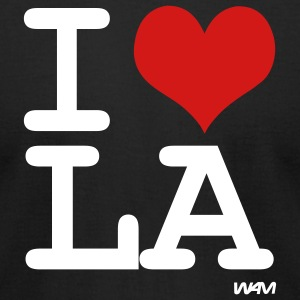 Black i love LA by wam T-Shirts - Men's T-Shirt by American Apparel