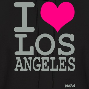 Black iI love los angeles by wam Hoodies - Men's Hoodie