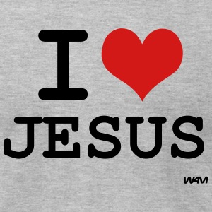 Heather grey i love jesus by wam T-Shirts - Men's T-Shirt by American Apparel