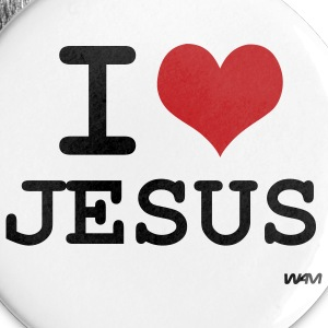White i love jesus by wam Buttons - Large Buttons