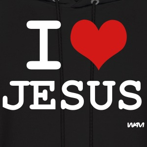 Black i love jesus by wam Hoodies - Men's Hoodie