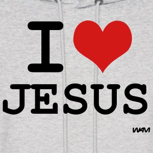 Ash  i love jesus by wam Hoodies - Men's Hoodie