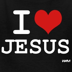 Black i love jesus by wam Kids Shirts