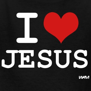 Black i love jesus by wam Kids Shirts - Kids' T-Shirt