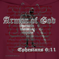 Design ~ Armor of God, Cool Christian Hoodie Sweatshirt