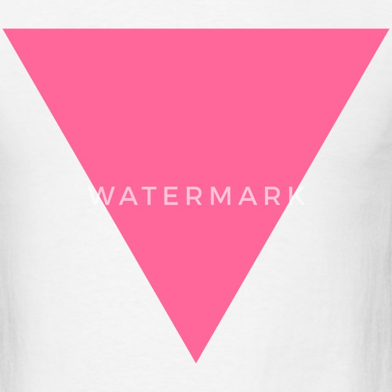 White Pink Triangle T-Shirts - Men's T-Shirt