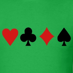 Bright green Poker T-Shirts