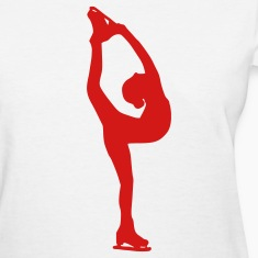 White Figure Skating Women's T-shirts