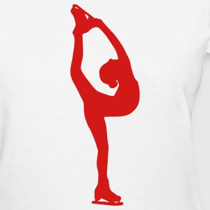 White Figure Skating Women's T-shirts - Women's T-Shirt