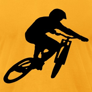 Mountain Bike Downhill - Men's T-Shirt by American Apparel