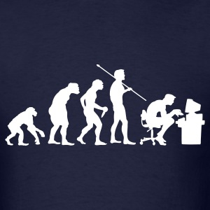 Navy Evolution of a Computer Geek T-Shirts - Men's T-Shirt