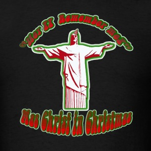 Black Mas Christ in Christmas T-Shirts - Men's T-Shirt
