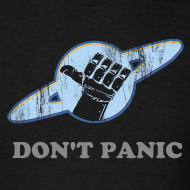 Design ~ HITCHHIKERS GUIDE Vintage Logo White T-Shirt