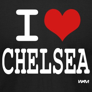 Black i love Chelsea by wam  T-Shirts - Men's T-Shirt by American Apparel
