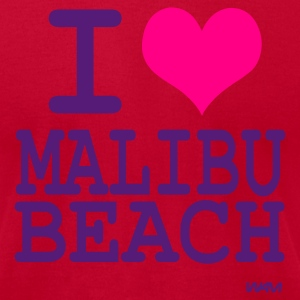 Aqua i love malibu by wam T-Shirts - Men's T-Shirt by American Apparel