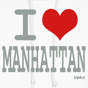 White i love manhattan by wam Hooded Sweatshirts - Women's Hoodie